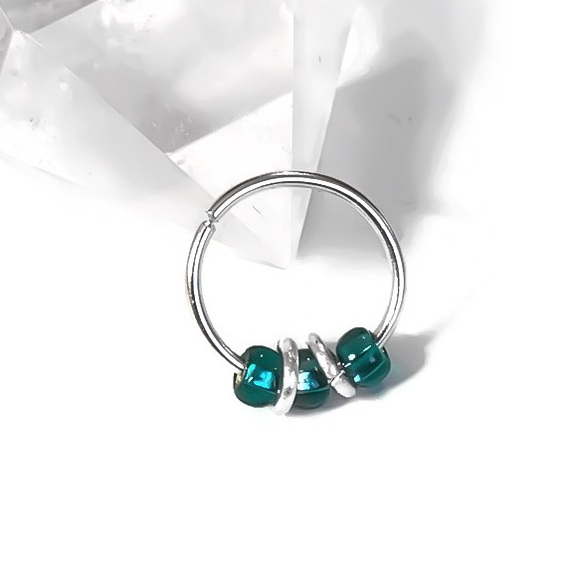 Moodtherapy Jewelry - 20G Boho Cartilage Hoop Earring Nose/Septum Ring